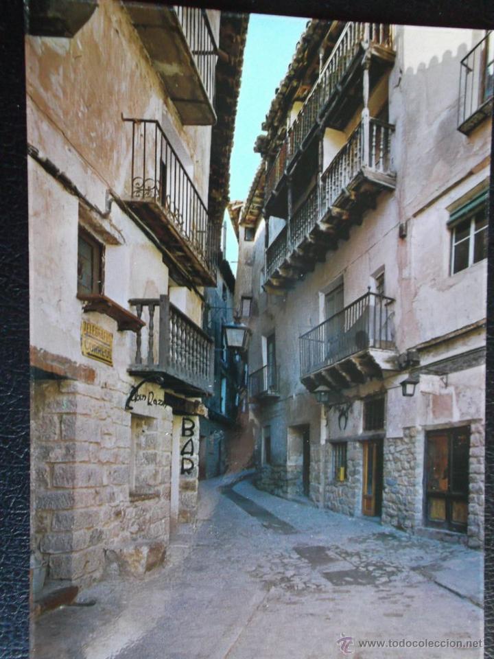 ALBARRACÍN (TERUEL). 10 TÍPICA CALLE DEL PORTAL DE MOLINA (MONUMENTO NACIONAL). EDICIONES SICILIA. N (Postales - España - Aragón Moderna (desde 1.940))