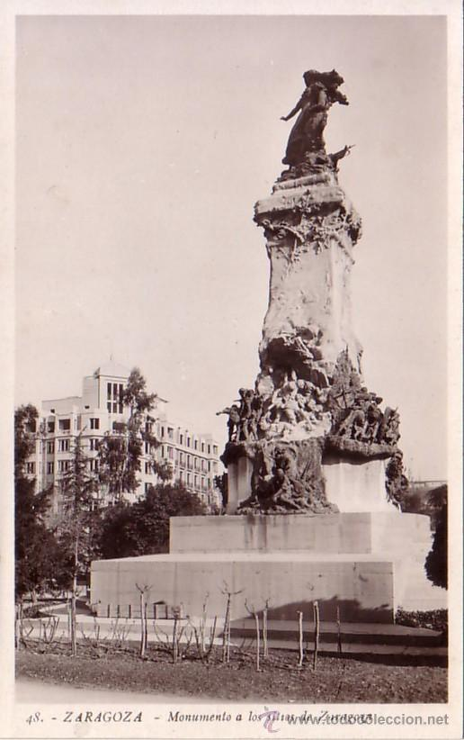 ZARAGOZA - MONUMENTO A LOS SITIOS DE ZARAGOZA - L. ROISIN (Postales - España - Aragón Moderna (desde 1.940))