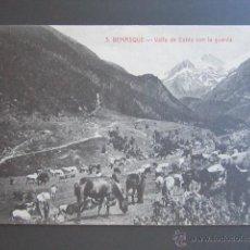 Cartes Postales: POSTAL HUESCA. BENASQUE. VALLE DE ESTÓS CON LA GUARDA. . Lote 43414462