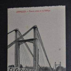 Postales: ANTIGUA POSTAL DE ZARAGOZA. PUENTE SOBRE EL RIO GALLEGO. ED. M. ARRIBAS. SIN CIRCULAR. Lote 43672594