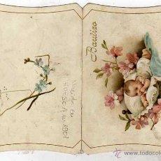 Postales: CROMO DE RECUERDO O FELICITACIÓN DE BAUTIZO. HUESCA 1901. Lote 43746296