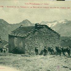 PIRINEOS. BENASQUE. REFUGIO CABELLUD. CIRCULADA EN 1913.