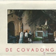 Postales: POSTALES BLOC DE 10 TARJETAS DEL SANTUARIO DE COVADONGA EN ZARAGOZA. Lote 44192550