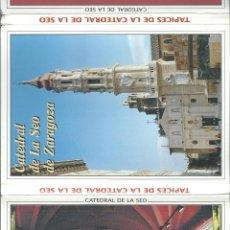Postales: POSTALES BLOC DE 10 TARJETAS DE TAPICES DE LA CATEDRAL DE LA SEO DE ZARAGOZA . Lote 44193753