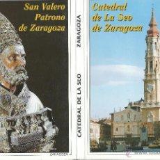 Postales: POSTALES BLOC DE 10 TARJETAS DE LA CATEDRAL DE LA SEO ZARAGOZA. Lote 44193831