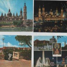 Postales: POSTAL-LOTE DE 8 TATJETAS DE ZARAGOZA. Lote 44237770