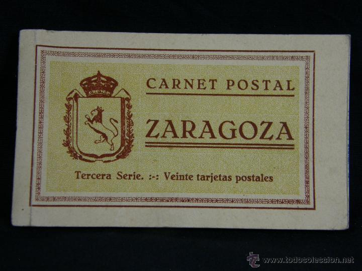 CARNET POSTAL CUADERNO POSTALES ZARAGOZA TERCERA SERIE 10 POSTALES 15X9X 1 CM (Postales - España - Aragón Moderna (desde 1.940))