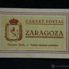 Postales: CARNET POSTAL CUADERNO POSTALES ZARAGOZA TERCERA SERIE 10 POSTALES 15X9X 1 CM . Lote 44564197
