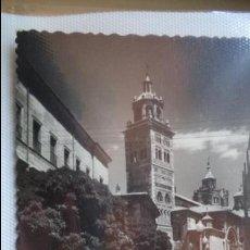 Postales: POSTAL DE TERUEL. PLAZA DEL AYUNTAMIENTO Y CATEDRAL. AÑOS 60. CIRCULADA. Lote 40779172