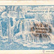 Postales: POSTAL - ZARAGOZA BLOC 10 VISTAS MONASTERIO DE PIEDRA ED. ARRIBAS. Lote 45070993
