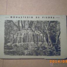 Postales: DESPLEGABLE MONASTERIO DE PIEDRA - ZARAGOZA - CARTERA DE POSTALES 10.-. Lote 45173328
