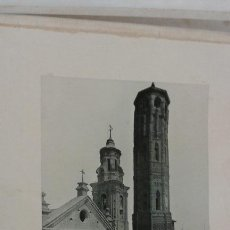 Postales: LÁMINA 24 X 30 CM FOTOTIPIA HAUSER Y MENET. ZARAGOZA. TORRE NUEVA.. Lote 45297065