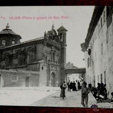 Postales: FOTO POSTAL DE HIJAR, TERUEL, N.4, PLAZA E IGLESIA DE SAN BLAS, ED. GEOGRAFIA DEL REINO DE ARAGON, N. Lote 45449180