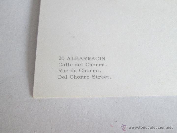 Postales: Aª POSTAL-ALBARRACÍN-TERUEL-CALLE DEL CHORRO-NUEVA-SIN CIRCULAR-VER FOTOS. - Foto 2 - 45456693