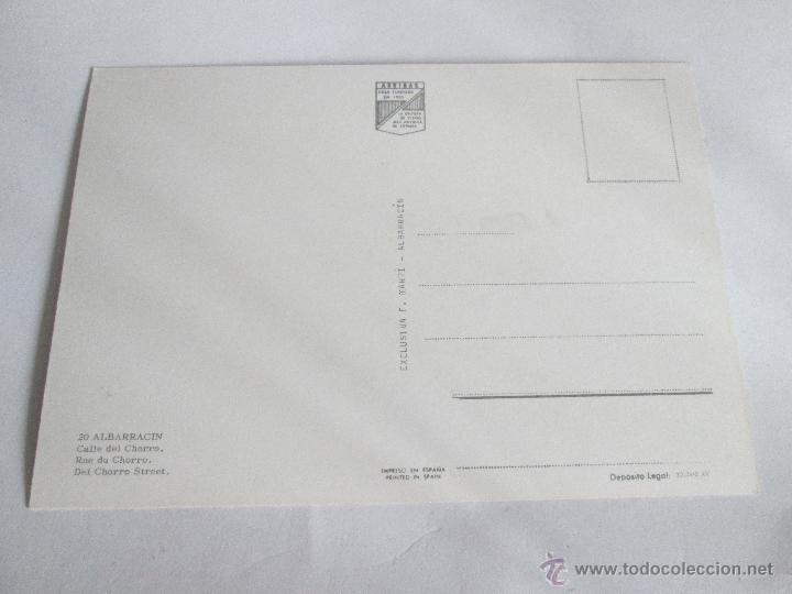 Postales: Aª POSTAL-ALBARRACÍN-TERUEL-CALLE DEL CHORRO-NUEVA-SIN CIRCULAR-VER FOTOS. - Foto 3 - 45456693