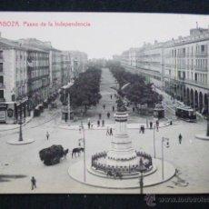 Postales: ZARAGOZA.- PASEO DE LA INDEPENDENCIA. Lote 45539804
