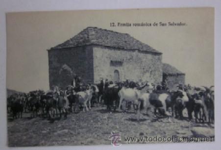 POSTAL ERMITA ROMANICA DE SAN SALVADOR (Postales - España - Aragón Moderna (desde 1.940))