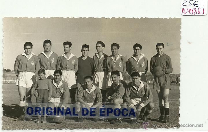 (PS-41861)FOTO DE BINEFAR-EQUIPO DE FUTBOL 1952 (12,5 X 7,5 CM.) (Postales - España - Aragón Moderna (desde 1.940))