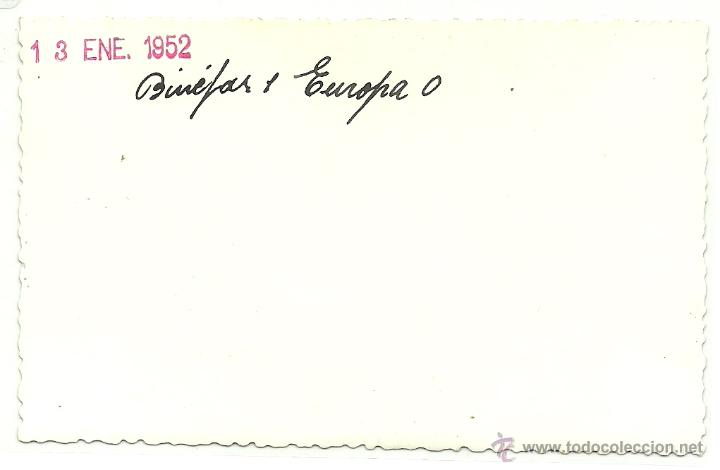 Postales: (PS-41861)FOTO DE BINEFAR-EQUIPO DE FUTBOL 1952 (12,5 X 7,5 CM.) - Foto 3 - 45708829