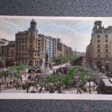 Postales: ARAGÓN ZARAGOZA PLAZA ESPAÑA Y PASEO INDEPENDENCIA POSTAL ANTIGUA . Lote 45746684