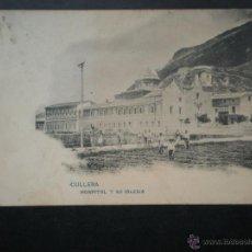 Postales: VALENCIA CULLERA HOSPITAL Y SU IGLESIA AÑO 1907 POSTAL ANTIGUA. Lote 45780806
