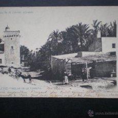 Postales: VALENCIA ALICANTE ELCHE MOLINO DE LA TORRETA AÑO 1904 POSTAL ANTIGUA. Lote 45786209