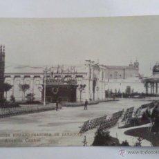 Postales: ANTIGUA POSTAL, EXPOSICION HISPANO FRANCESA DE ZARAGOZA, AÑO 1908, Nº 7 AVENIDA CENTRAL. Lote 45963082