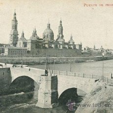 Postales: ZARAGOZA-PUENTE DEPIEDRA Y EL PILAR. Lote 45975805