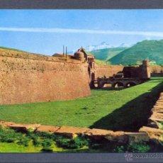 Postales: JACA. PIRINEO ARAGONES. CIUDADELA SIGLO XVI. AL FONDO RAPITÁN Y COLLARADA. Lote 46036591