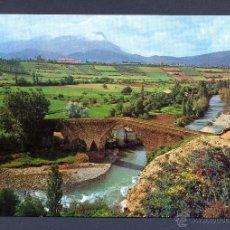 Postales: JACA. PIRINEO ARAGONES. PUENTE ROMANICO DE SAN MIGUEL SOBRE EL RIO ARAGON. Lote 46036717