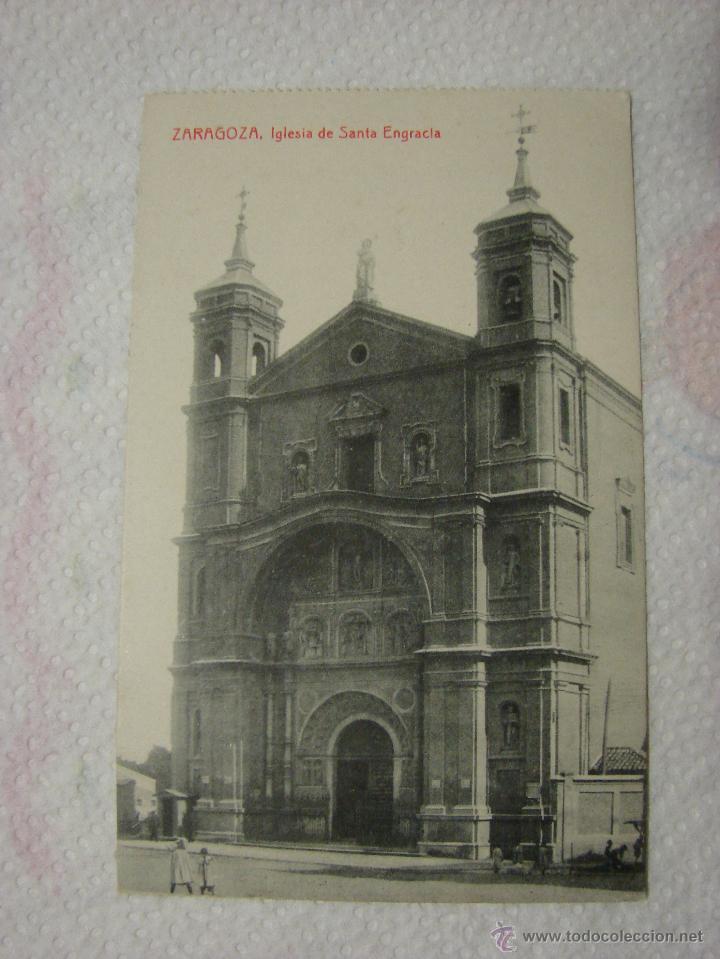 POSTAL ANTIGUA. ZARAGOZA. IGLESIA DE SANTA ENGRACIA (Postales - España - Aragón Antigua (hasta 1939))