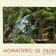 Postales: MONASTERIO DE PIEDRA LIBRO DE 10 POSTALES. Lote 46364307