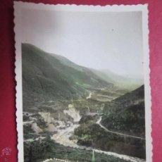 Postales: BIESCAS. CAMPAMENTO Y VALLE DE BIESCAS. HUESCA (ED. DARVI). ESCRITA 1954.. Lote 46483963
