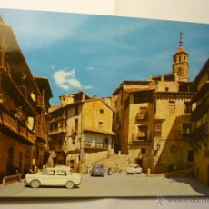 Postales: POSTAL ALBARRACIN- PL.GENERALISIMO .-COCHES . Lote 47132545