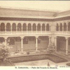 Postales: ZARAGOZA PALACIO MUSEOS SIN ESCRIBIR. Lote 47287890
