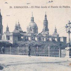 Postales: P- 240. LOTE 10 POSTALES ANTIGUAS DE ZARAGOZA.. Lote 47322480