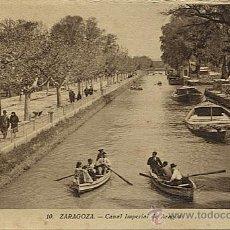 Postales: X112719 ARAGON ZARAGOZA CANAL IMPERIAL DE ARAGON. Lote 47388156