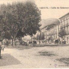 Postales: GRAUS - CALLE DE SALAMERO CLICHÉ ARRIBAS CIRCULADA EN 1924. Lote 47430420