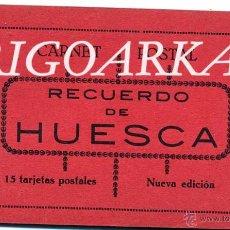 Postales: RECUERDO DE HUESCA.- 15 POSTALES -COMPLETO. Lote 47691156