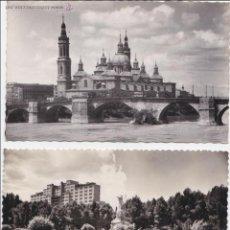 Postales: P- 574. LOTE 3 POSTALES FOTOGRAFICAS ZARAGOZA.. Lote 47818564