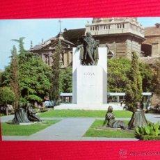 Postales: MONUMENTO A GOYA - ZARAGOZA. Lote 47948560