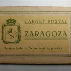 Postales: CARNET POSTAL ZARAGOZA. 20 TARJETAS POSTALES. TERCERA SERIE. Lote 48359215