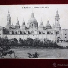 Postales: ANTIGUA POSTAL DE ZARAGOZA. TEMPLO DEL PILAR. SIN CIRCULAR. Lote 48375503