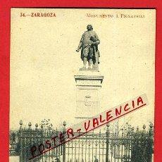 Postales: POSTAL ZARAGOZA, MONUMENTO A PIGNATELLI, P97922. Lote 48402069