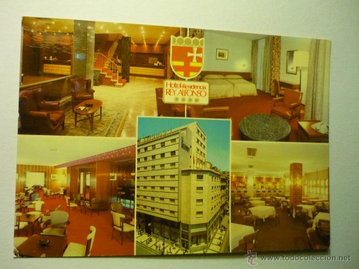 POSTAL ZARAGOZA.-HOTEL REY ALFONSO.--ESCRITA PUBLICIDAD HOTEL (Postales - España - Aragón Moderna (desde 1.940))