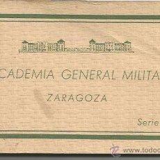 Postales: LOTE BLOC 21 POSTALES ACADEMIA GENERAL MILITAR ZARAGOZA. Lote 48522111