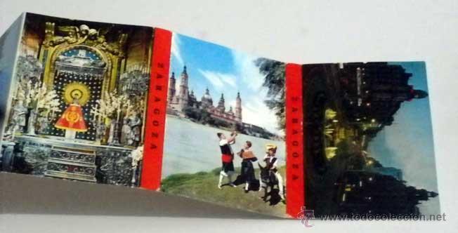 Postales: estuche 16 postales panoramicas zaragoza desplegable en acordeon,años 60-70 - Foto 2 - 48744034