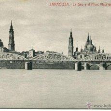 Postales: ZARAGOZA-LA SEOY EL PILAR VISTA PANORÁMICA-THOMAS. Lote 48838973