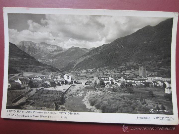BROTO. VISTA GENERAL. ZERKOWITZ. 3527. (Postales - España - Aragón Antigua (hasta 1939))