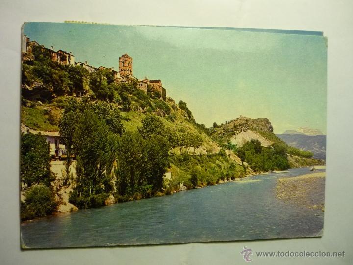 POSTAL AINSA.--VISTA PARCIAL Y RIO CINCA.-ESCRITA (Postales - España - Aragón Moderna (desde 1.940))